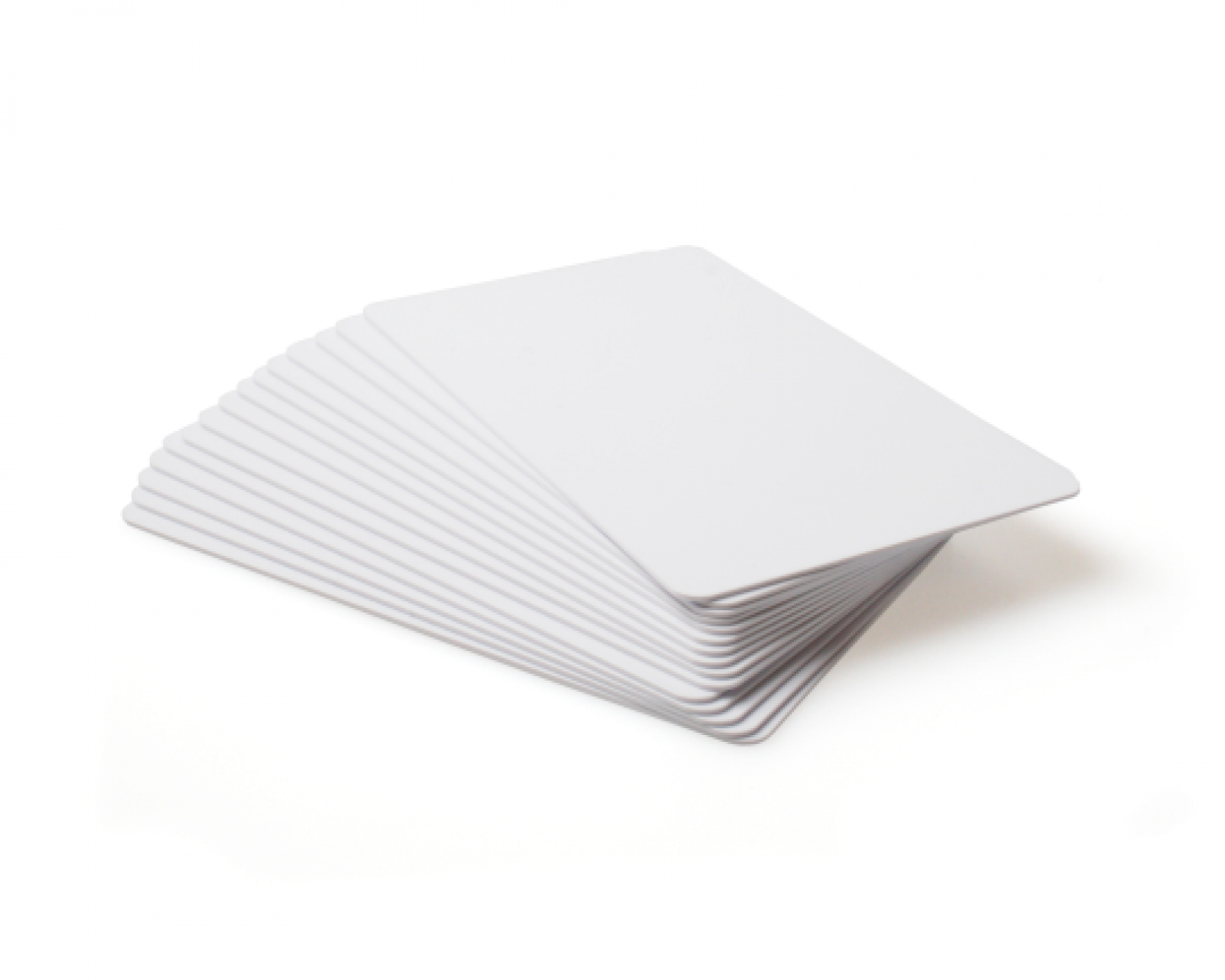 blank white plastic cards  pack of 100  total id